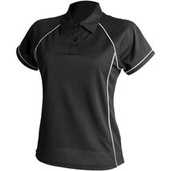 Textiel Dames Polo's korte mouwen Finden & Hales LV371 Zwart/Wit