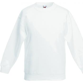 Textiel Kinderen Sweaters / Sweatshirts Fruit Of The Loom SS801 Wit