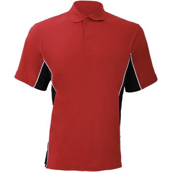 Textiel Heren Polo's korte mouwen Gamegear KK475 Rood/zwart/wit