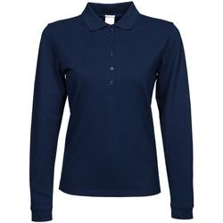 Textiel Dames Polo's lange mouwen Tee Jays TJ146 Marineblauw