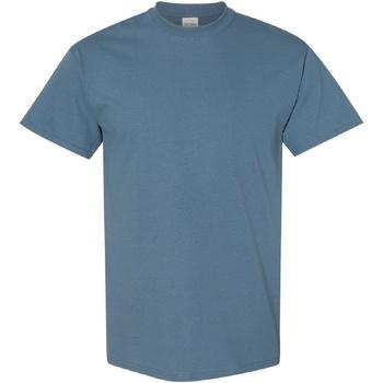 Textiel Heren T-shirts korte mouwen Gildan Heavy Indigoblauw
