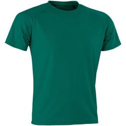 Textiel T-shirts korte mouwen Spiro Aircool Fles groen