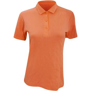 Textiel Dames Polo's korte mouwen Anvil 6280L Mandarijn Oranje