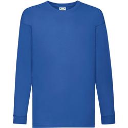 Textiel Kinderen T-shirts met lange mouwen Fruit Of The Loom 61007 Royaal Blauw