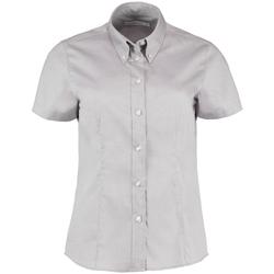 Textiel Dames Overhemden Kustom Kit KK701 Zilvergrijs