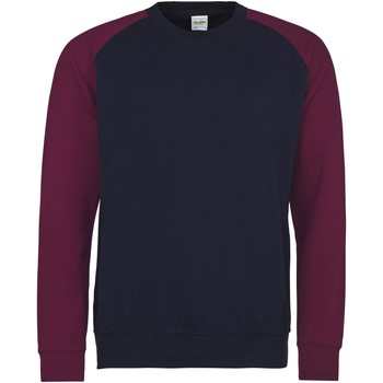 Textiel Heren Sweaters / Sweatshirts Awdis JH033 Marine Oxford/Burgondië
