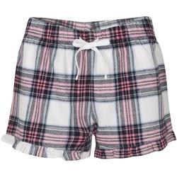 Textiel Dames Korte broeken / Bermuda's Skinni Fit SK082 Wit/roze Controle