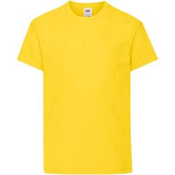 Textiel Kinderen T-shirts korte mouwen Fruit Of The Loom 61019 Geel