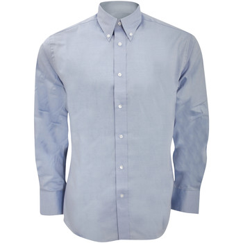 Textiel Heren Overhemden lange mouwen Kustom Kit KK188 Lichtblauw