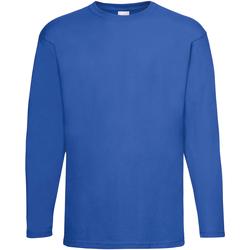 Textiel Heren T-shirts met lange mouwen Universal Textiles 61038 Kobalt