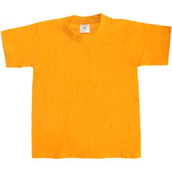 Textiel Kinderen T-shirts korte mouwen B And C TK301 Goud
