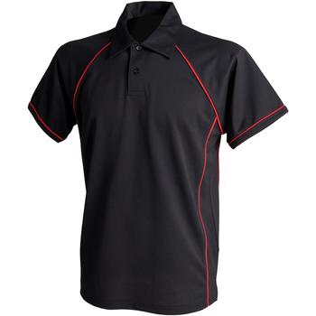Textiel Kinderen Polo's korte mouwen Finden & Hales LV372 Zwart/Rood