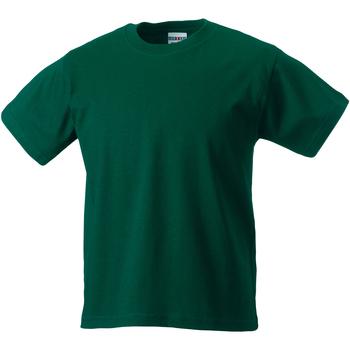 Textiel Kinderen T-shirts korte mouwen Jerzees Schoolgear ZT180B Fles groen