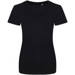 Textiel Dames T-shirts korte mouwen Ecologie EA01F Jet Zwart