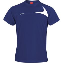 Textiel Heren T-shirts korte mouwen Spiro S182M Marine / Wit