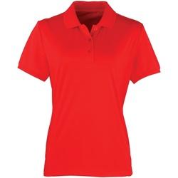 Textiel Dames Polo's korte mouwen Premier PR616 Aardbeienrood
