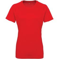 Textiel Dames T-shirts korte mouwen Tridri Panelled Vuurrood