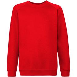 Textiel Kinderen Sweaters / Sweatshirts Fruit Of The Loom 62033 Rood