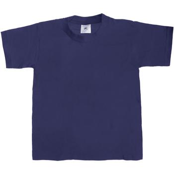 Textiel Kinderen T-shirts korte mouwen B And C TK301 Marineblauw
