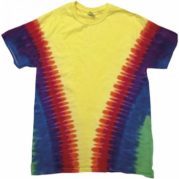 Textiel Kinderen T-shirts korte mouwen Colortone TD05B Regenboog Vee