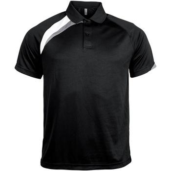 Textiel Heren Polo's korte mouwen Kariban Proact PA457 Zwart / Wit / Stormgrijs