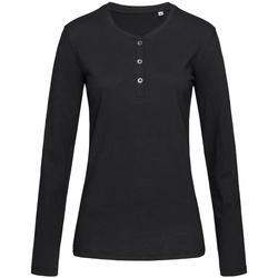 Textiel Dames T-shirts met lange mouwen Stedman Stars  Zwart Opaal