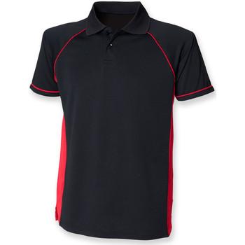 Textiel Heren Polo's korte mouwen Finden & Hales LV310 Zwart/Rood