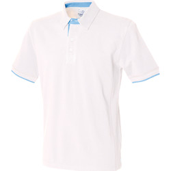 Textiel Heren Polo's korte mouwen Front Row FR200 Wit/ Hemelsblauw