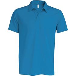 Textiel Heren Polo's korte mouwen Kariban Proact PA482 Aqua Blauw