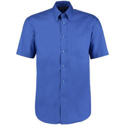 Textiel Heren Overhemden korte mouwen Kustom Kit KK109 Koningsblauw