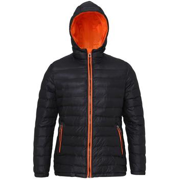 Textiel Dames Dons gevoerde jassen 2786 TS16F Zwart/Oranje