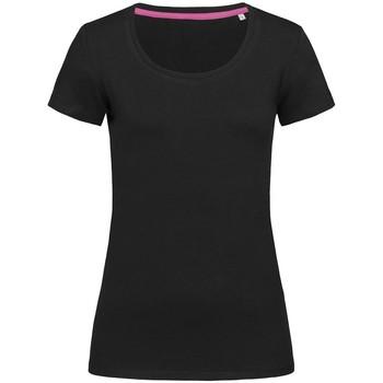Textiel Dames T-shirts korte mouwen Stedman Stars  Zwart Opaal