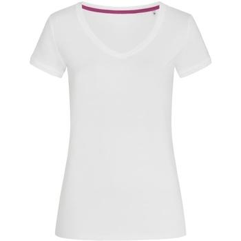 Textiel Dames T-shirts korte mouwen Stedman Stars Megan Wit