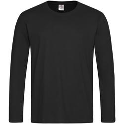 Textiel Heren T-shirts met lange mouwen Stedman  Black