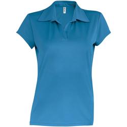 Textiel Dames Polo's korte mouwen Kariban Proact PA483 Aqua Blauw