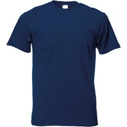 Textiel Heren T-shirts korte mouwen Universal Textiles 61082 Marineblauw