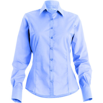 Textiel Dames Overhemden Kustom Kit Business Lichtblauw