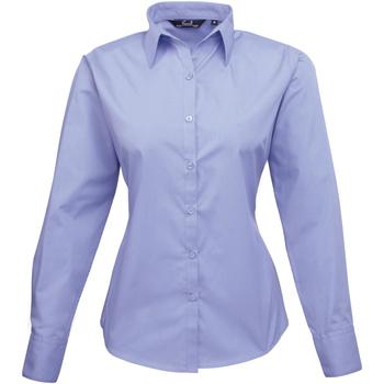 Textiel Dames Overhemden Premier PR300 Middenblauw