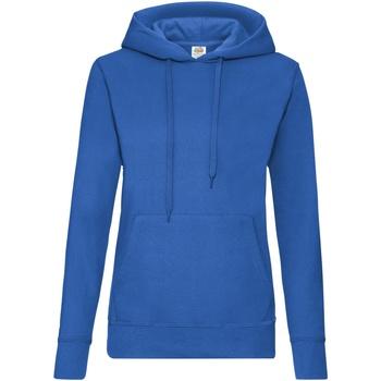Textiel Dames Sweaters / Sweatshirts Fruit Of The Loom 62038 Royaal Blauw