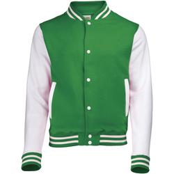 Textiel Kinderen Wind jackets Awdis JH43J Kelly Groen/Wit