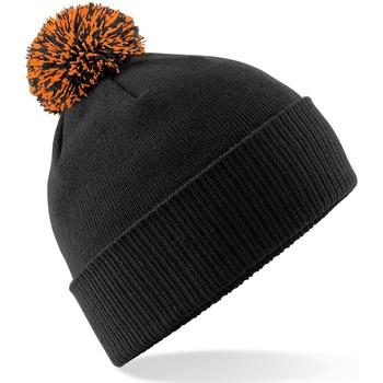 Accessoires Meisjes Muts Beechfield Snowstar Zwart/Oranje