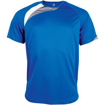 Textiel Heren T-shirts korte mouwen Kariban Proact PA436 Koningsblauw/wit/stormgrijs
