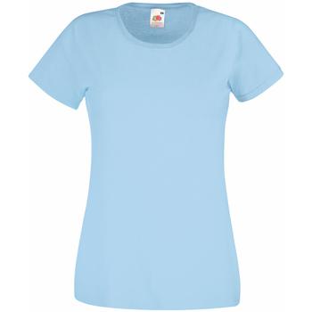 Textiel Dames T-shirts korte mouwen Universal Textiles 61372 Lichtblauw