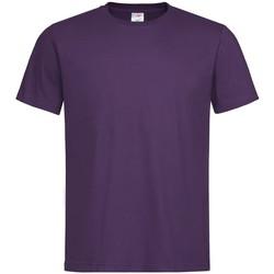 Textiel Heren T-shirts korte mouwen Stedman  Paars