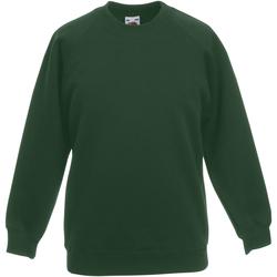 Textiel Kinderen Sweaters / Sweatshirts Fruit Of The Loom 62039 Bottle Groen