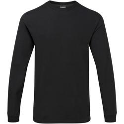 Textiel Heren T-shirts met lange mouwen Gildan H400 Zwart