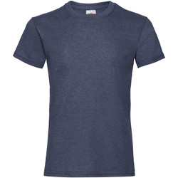 Textiel Meisjes T-shirts korte mouwen Fruit Of The Loom 61005 Vintage Heather Marine