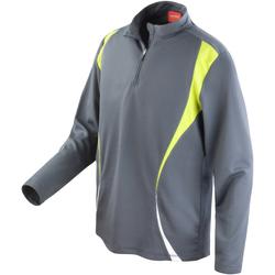Textiel Dames Sweaters / Sweatshirts Spiro S178X Houtskool/Lime/Wit