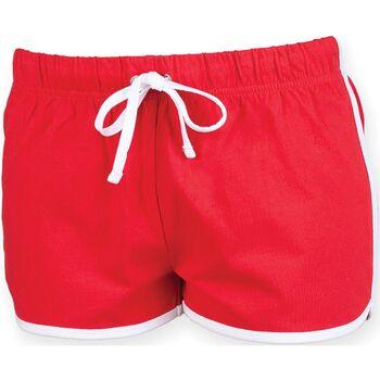 Textiel Dames Korte broeken / Bermuda's Skinni Fit SK069 Rood/wit