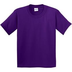 Textiel Kinderen T-shirts korte mouwen Gildan 64000B Paars